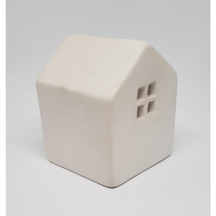 Porta velas casinha branca - Imagem: 2