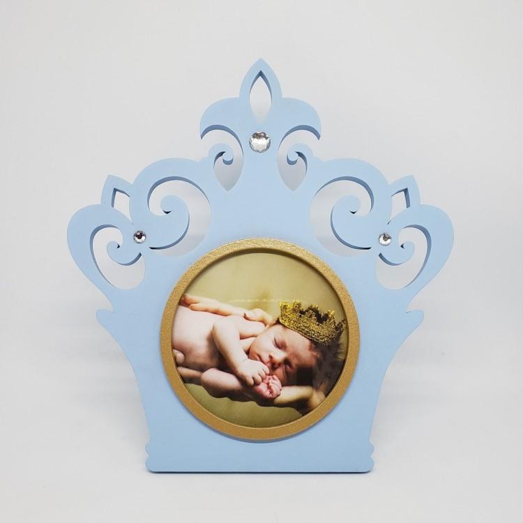 Porta-retrato coroa azul - Imagem: 1
