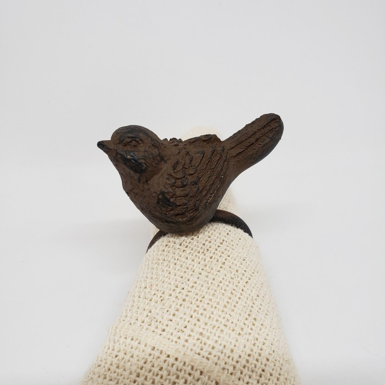 Argola marrom pássaro - Imagem: 3