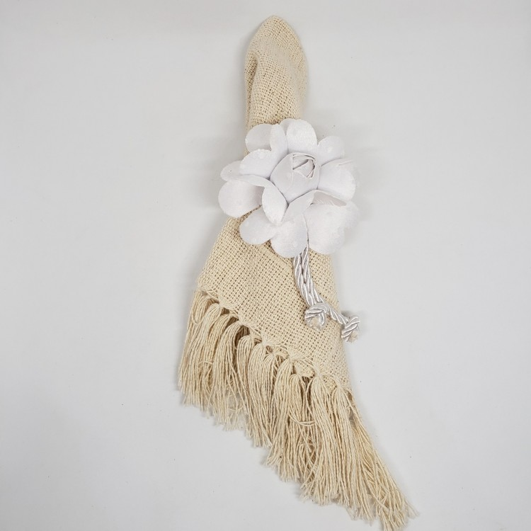 Porta-guardanapo flor branca - Imagem: 2