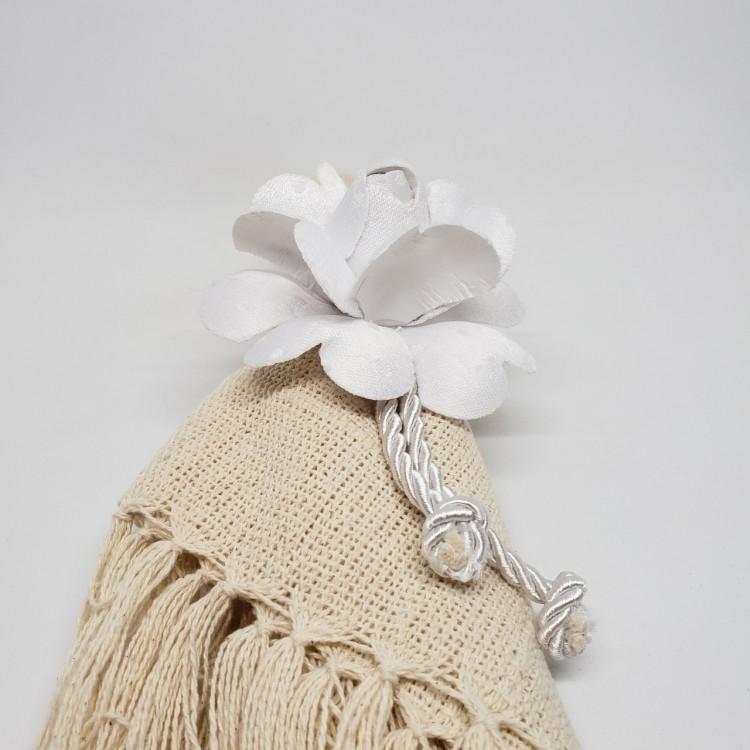 Porta-guardanapo flor branca - Imagem: 4