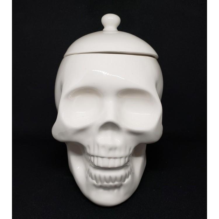 Porta treco caveira branca - Imagem: 1