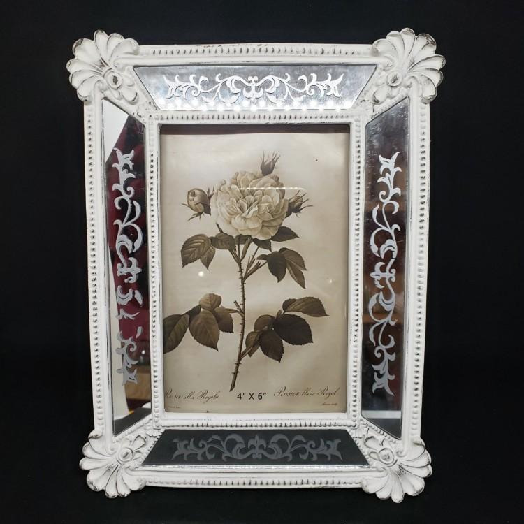 Porta-retrato antigo branco - Imagem: 1