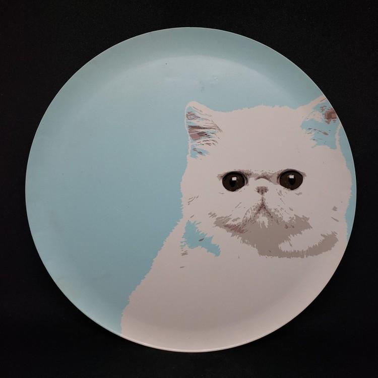 Quadro redondo gato - Imagem: 1