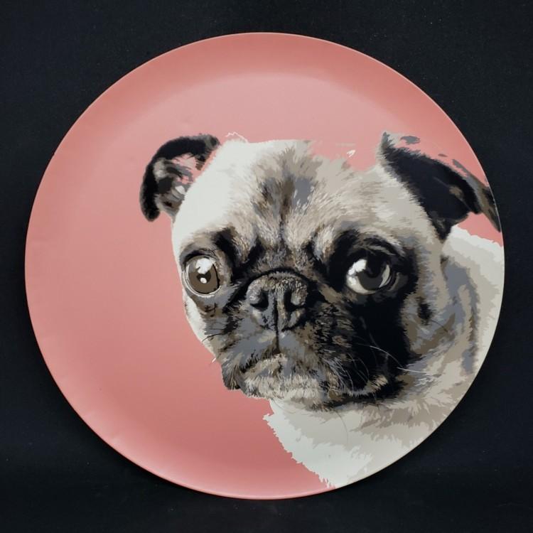 Quadro redondo pug - Imagem: 1