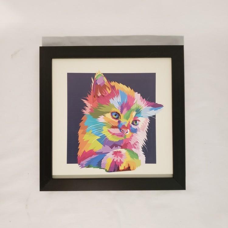 Quadro gato colorido III - Imagem: 1