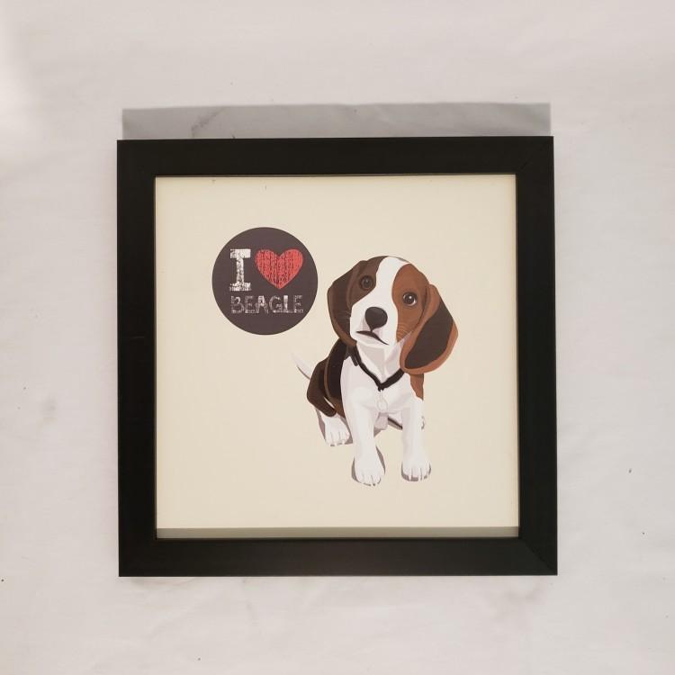 Quadro I love beagle - Imagem: 1