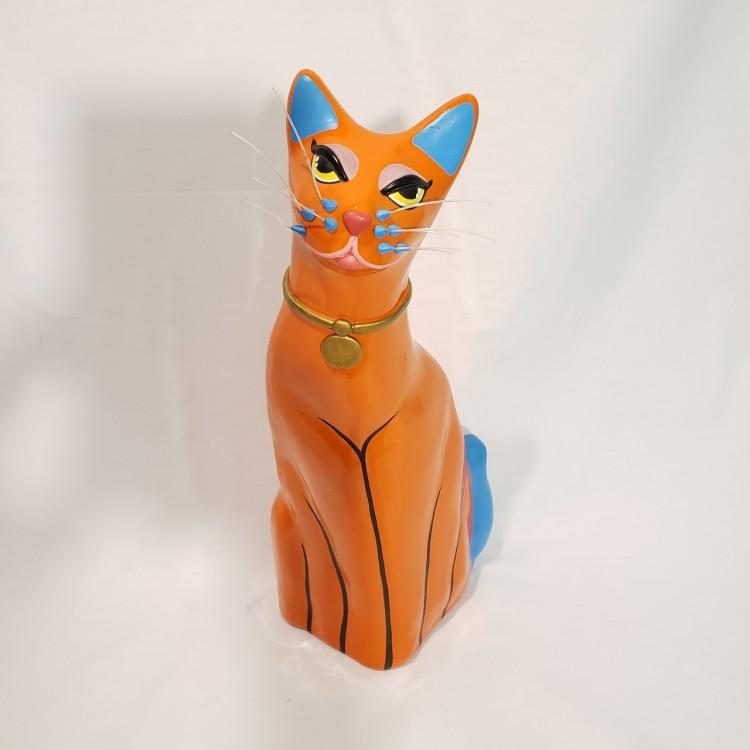 Gato decorativo laranja - Imagem: 2
