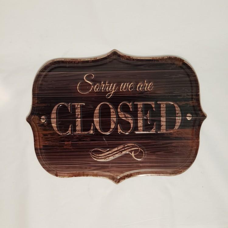 Placa Closed - Imagem: 1
