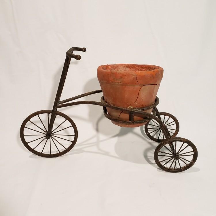 Bicicleta decorativa com vaso - Imagem: 1