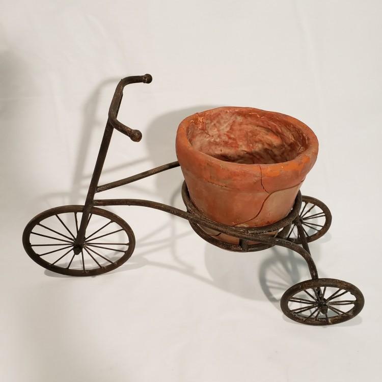 Bicicleta decorativa com vaso - Imagem: 3