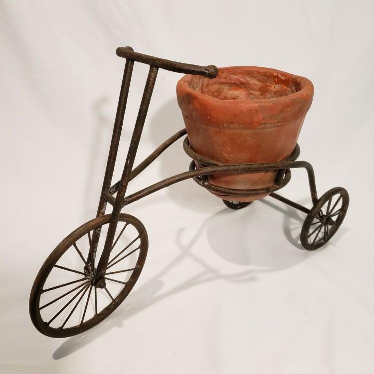 Bicicleta decorativa com vaso - Imagem: 2