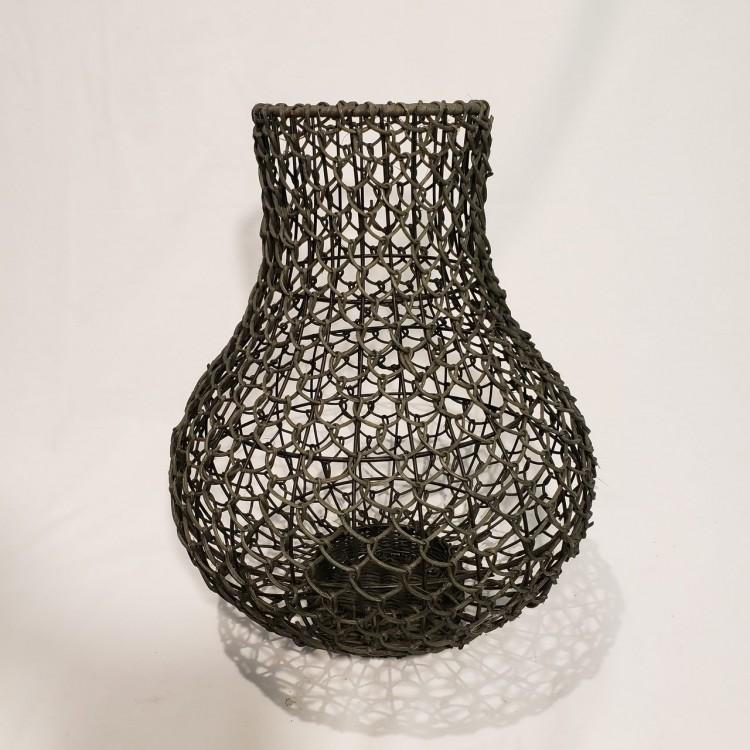 Vaso ferro e rattan - Imagem: 1