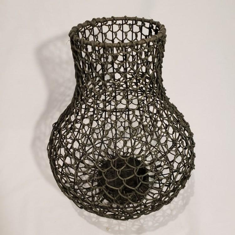 Vaso ferro e rattan - Imagem: 2