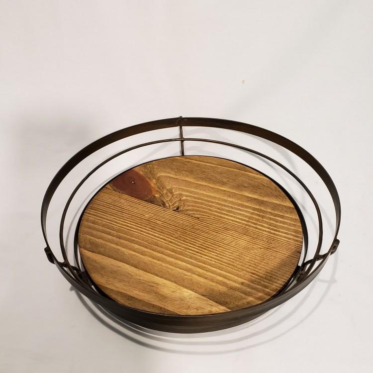 Centro de mesa madeira e metal - Imagem: 2