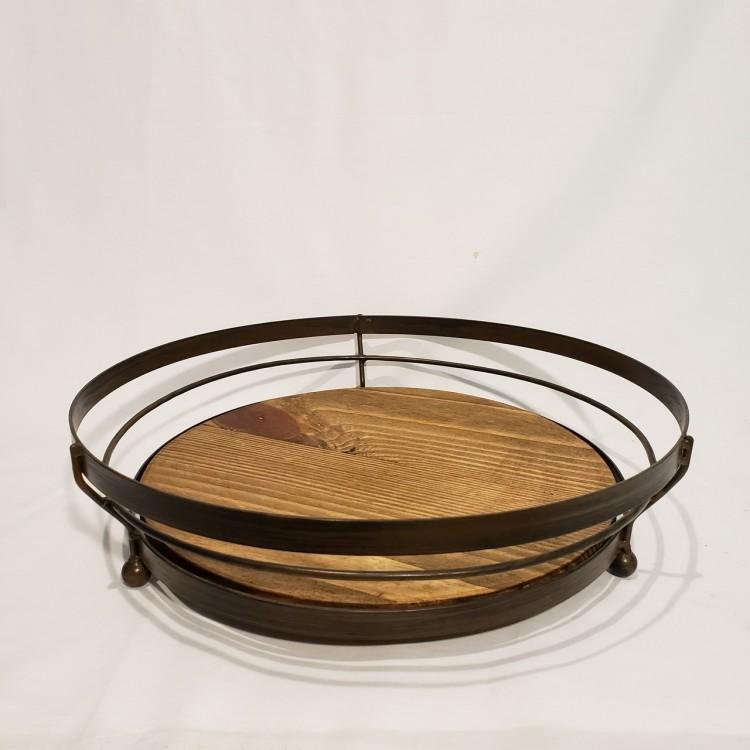 Centro de mesa madeira e metal - Imagem: 1