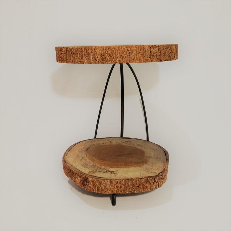 Suporte madeira dois andares - Imagem: 1