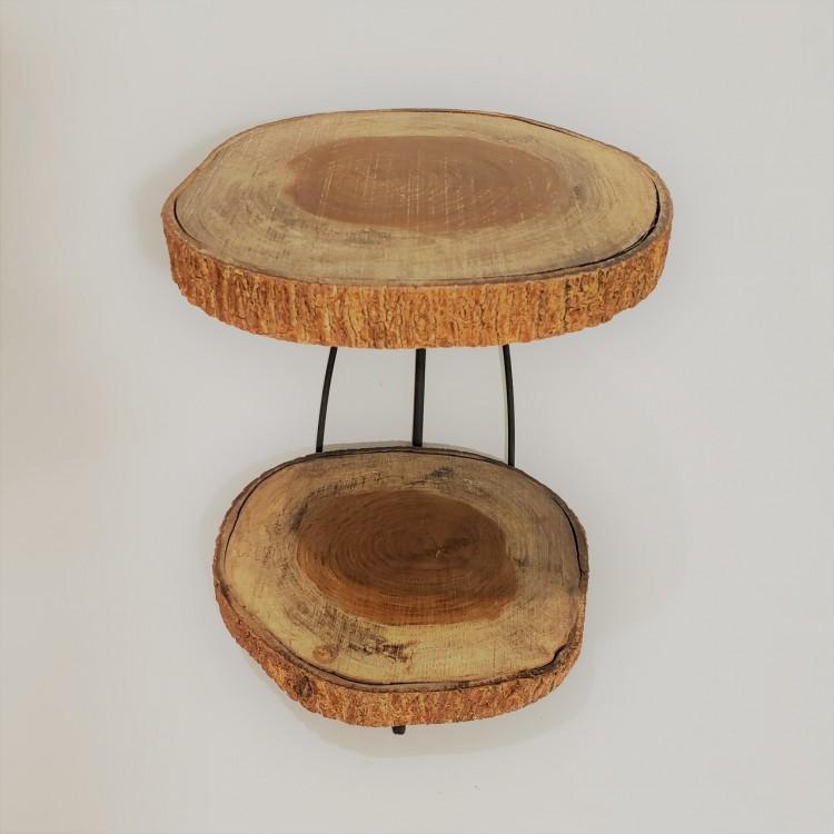 Suporte madeira dois andares - Imagem: 2