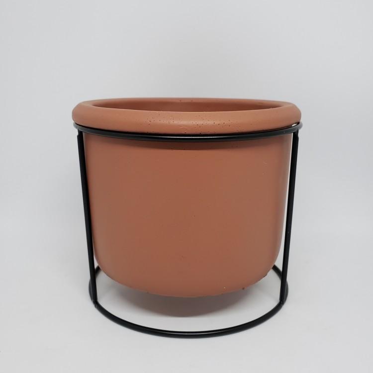 Cachepot cimento com suporte - Imagem: 1