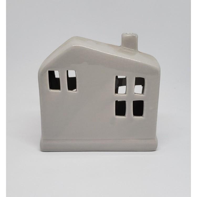 Porta vela casinha cinza - Imagem: 1