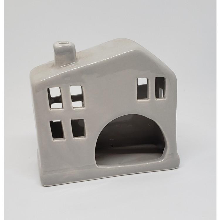 Porta vela casinha cinza - Imagem: 2
