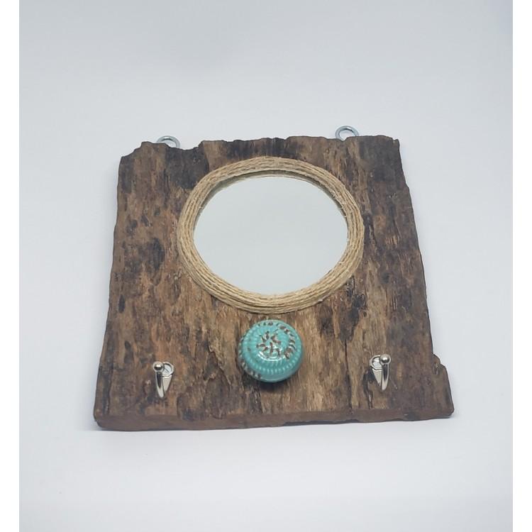 Espelho e gancheira rústico - Imagem: 2