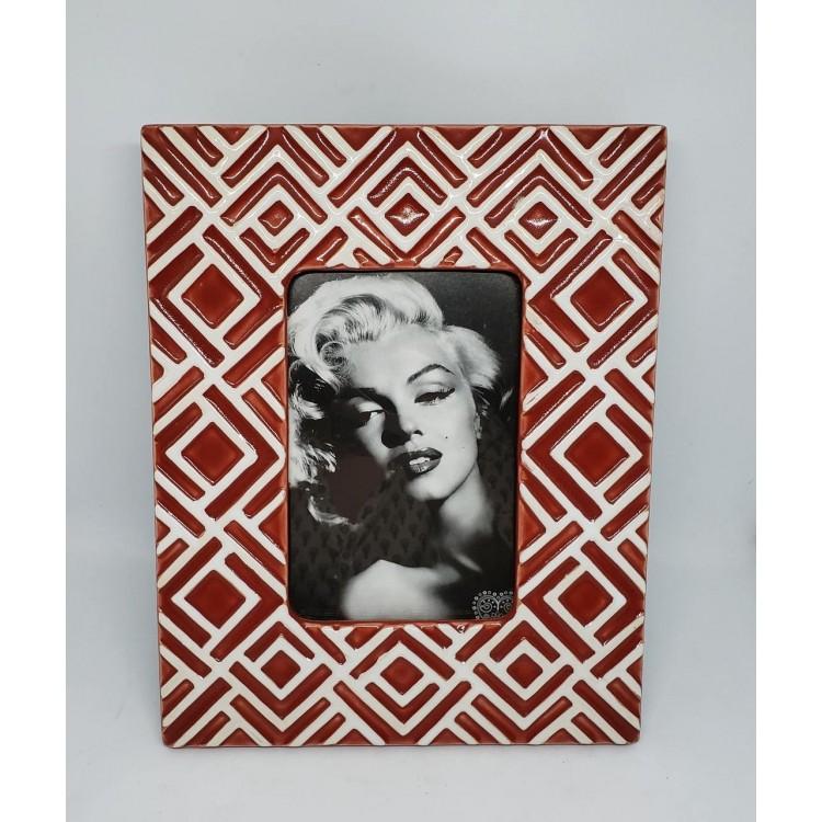 Porta-retrato cerâmica vermelha - Imagem: 1