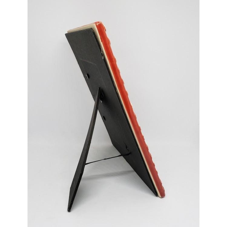 Porta-retrato cerâmica vermelha - Imagem: 2