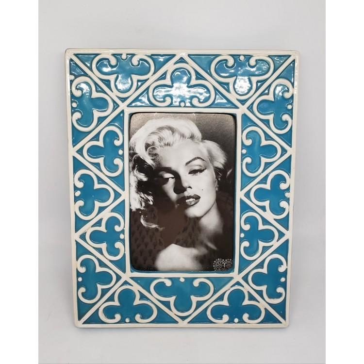 Porta-retrato cerâmica azul - Imagem: 1