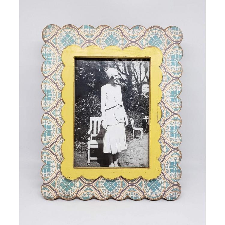 Porta-retrato madeira ondulado I - Imagem: 1