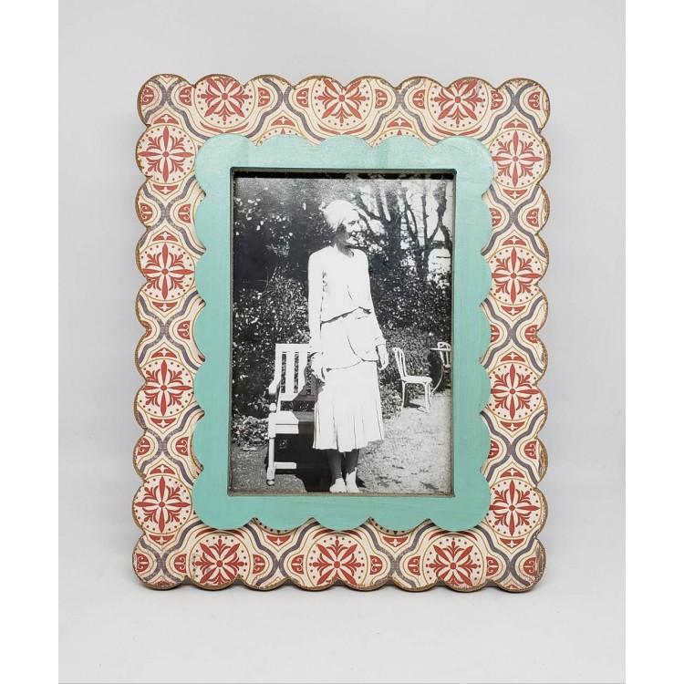 Porta-retrato madeira ondulado II - Imagem: 1