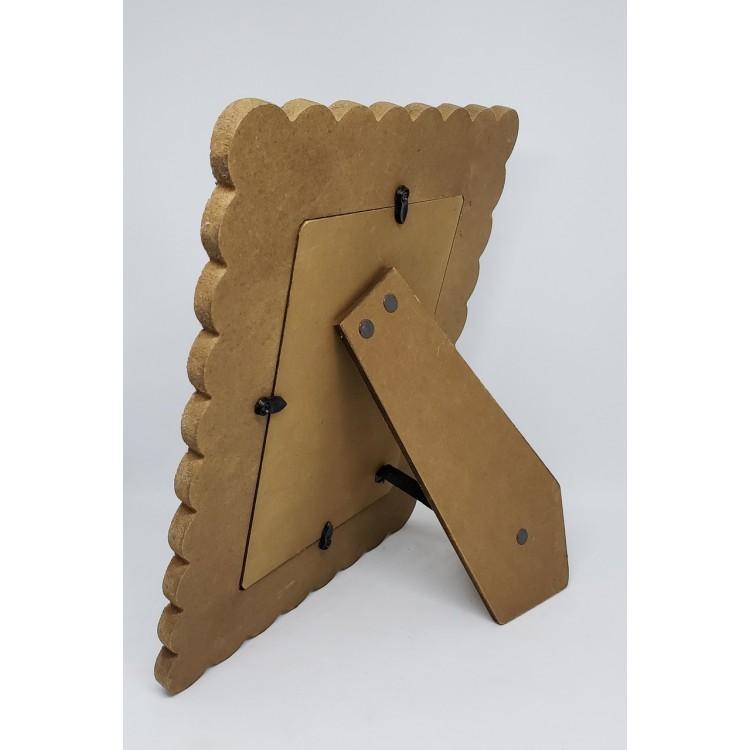 Porta-retrato madeira ondulado II - Imagem: 2