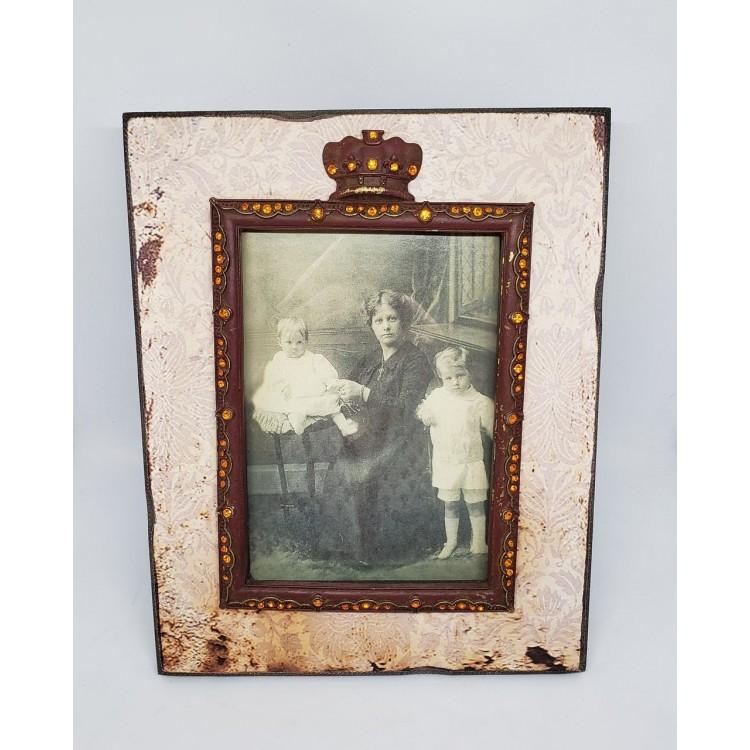 Porta-retrato vintage vermelho - Imagem: 1