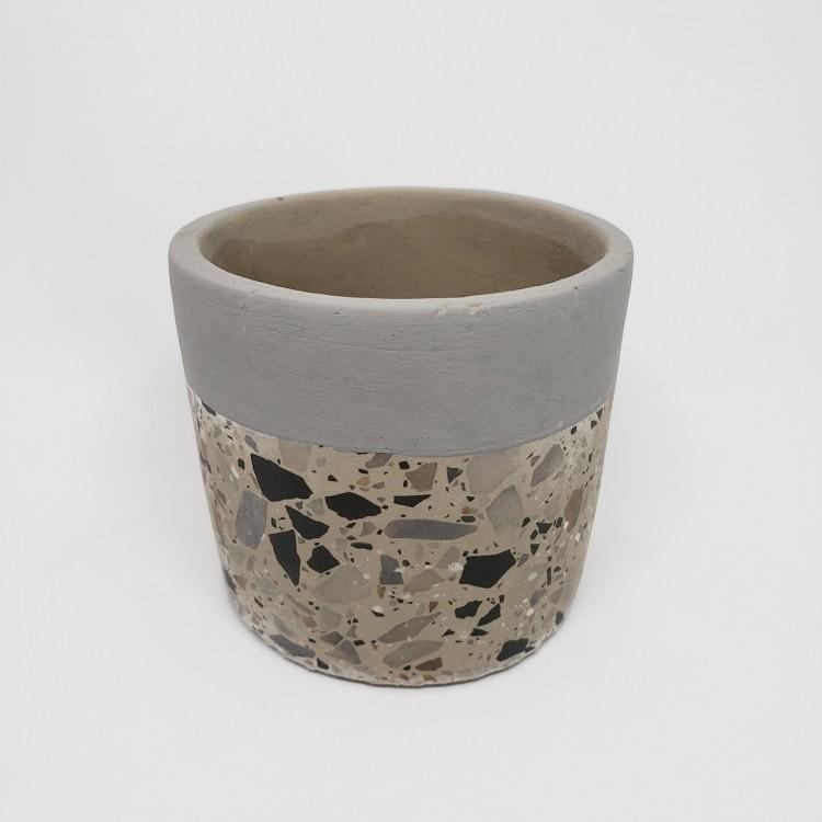 Cachepot concreto granilite - Imagem: 1
