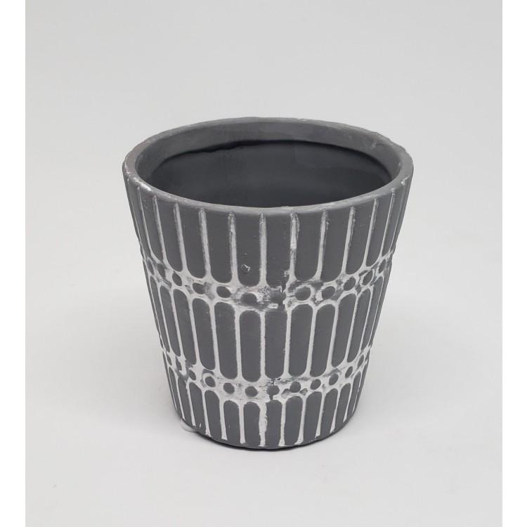Vaso concreto tile and dots - Imagem: 1