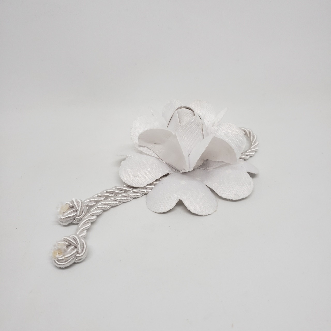 Porta-guardanapo flor branca