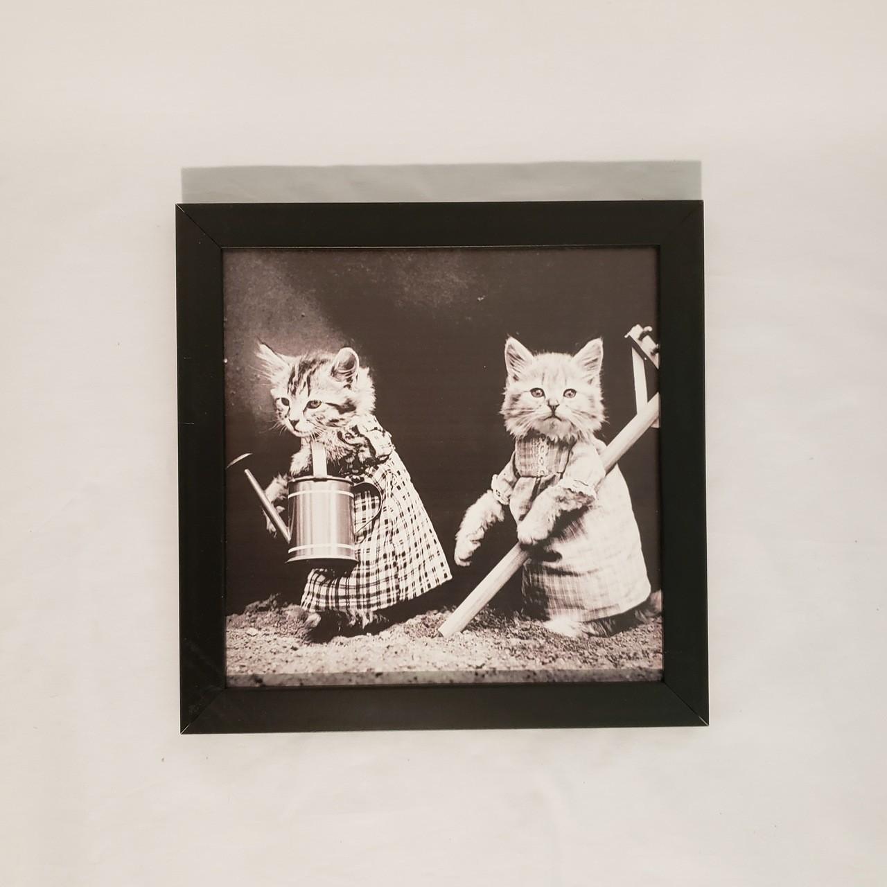 Quadro dois gatinhos