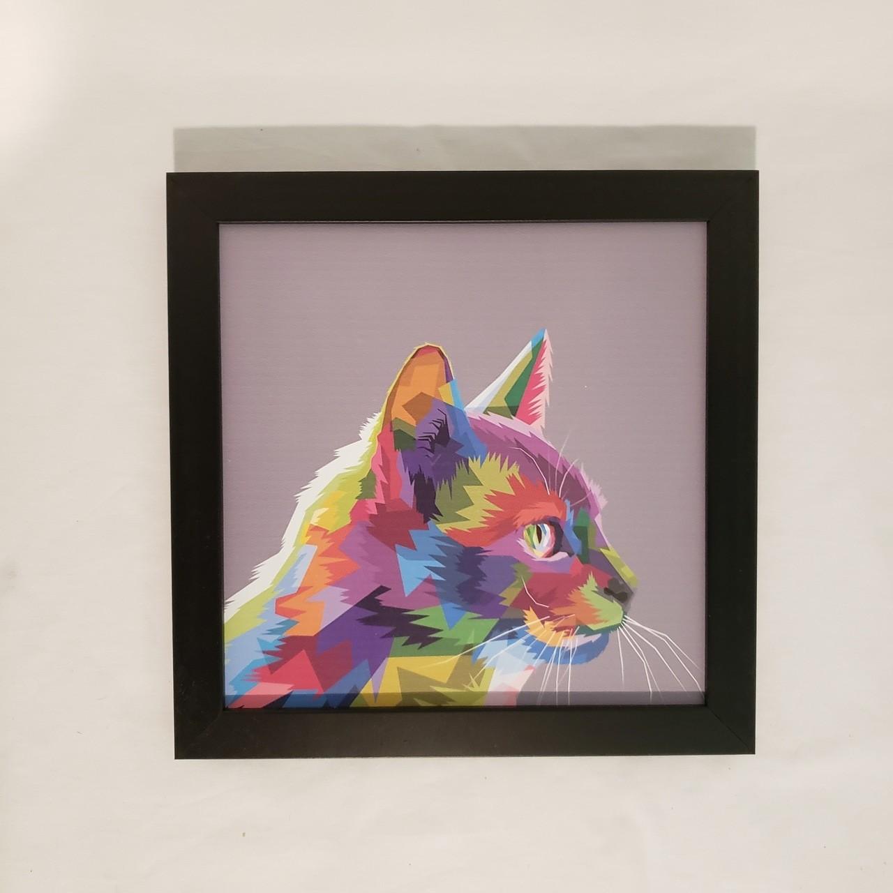 Quadro gato colorido I