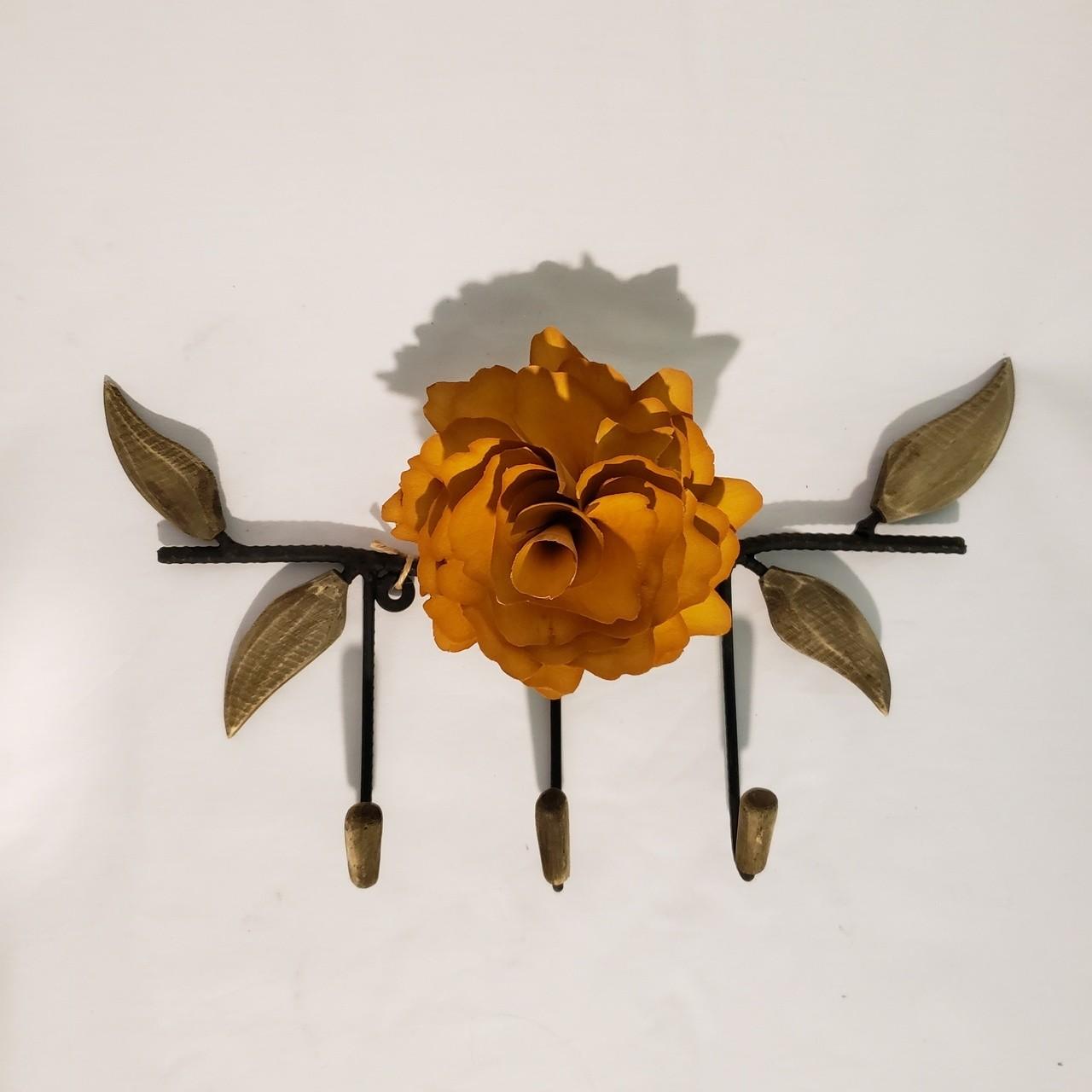 Cabide flor amarela